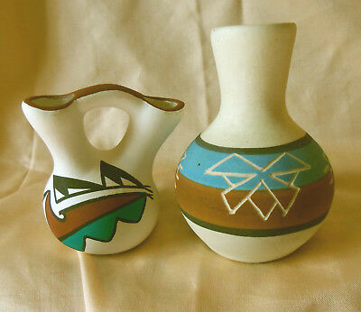 Sioux Pottery Marion Selwyn Vase and Wedding Vase