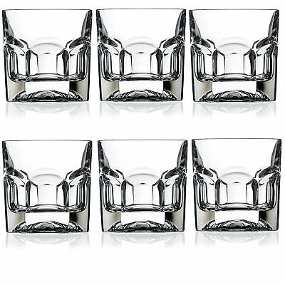 RCR® Crystal Whisky Tumblers Glass Set of 6 - 185ml / 6.5oz - MADE IN ITALY