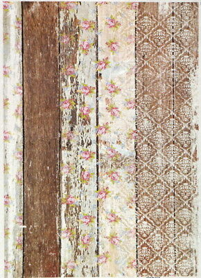 Rice Paper for Decoupage Decopatch Scrapbook Craft Sheet Patchwork Fence