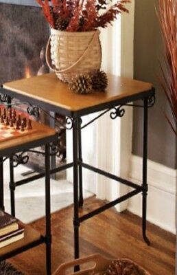 Longaberger Wrought Iron Medium Nesting Side Table NO SHELVES NIB