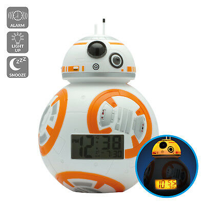 BulbBotz Star Wars BB-8 Light Up Alarm Clock (7.5 inch)