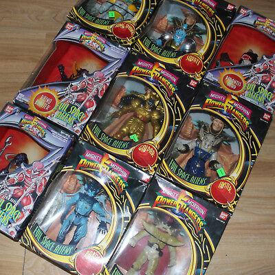 Evil Space Aliens Mighty Morphin Power Ragers Bandai OVP 7,5 inches Figuren