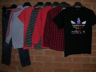 NEXT ADIDAS GEORGE etc Boys Bundle Tops Shirt Jeans Jumpers Jacket Age 4-5 110cm