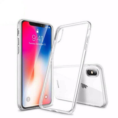 COVER CUSTODIA MORBIDA TPU GEL SILICONE PER IPHONE X APPLE SLIM
