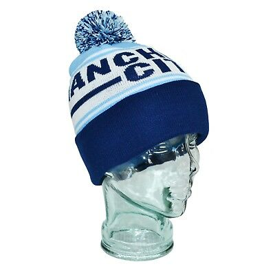 Manchester City Bobble Hat Christmas Gift One Size