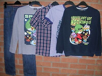 NEXT TU ANGRY BIRDS etc Boys Bundle Jeans T-Shirts Shirts Jumpers Age 10-11 146