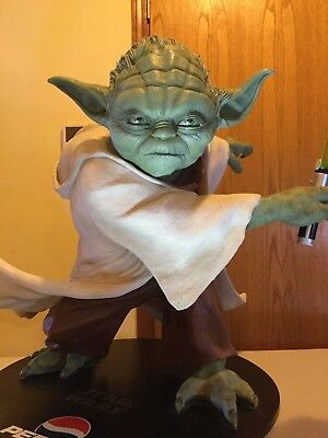 """Limited edition life size Yoda statue (Pepsi) 70 Lbs, 44"""" Tall"""