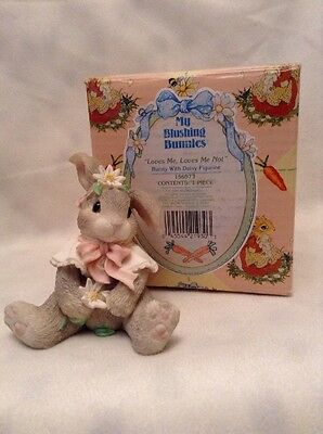 "My blushing Bunnies Figurine ""Loves Me Loves Me Not"" 156973 ENESCO"