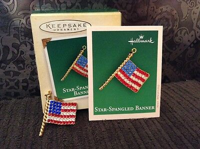 2004 Miniature Hallmark Keepsake Ornament Star-Spangled Banner