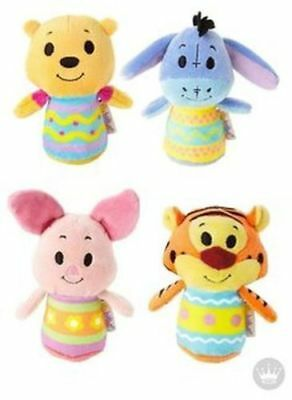 Hallmark Itty Bitty Easter Winnie the Pooh Piglet Eeyore and Tigger Set  - NWT