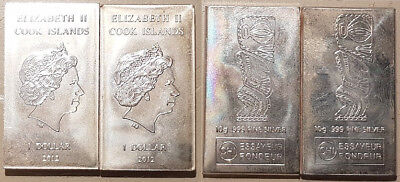 2 x 10g = 20g SILBERBARREN 999 Cook Islands 2012