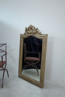 Elegantly Faded French Overmantle Mirror