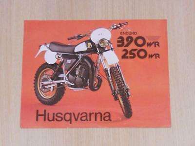 HUSQVARNA ENDURO 390WR & 250WR Motorcycles Sales Specification Sheet Aug 1979