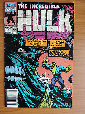 The Incredible Hulk # 384 (F- 5.5) Infinity Gauntlet Crossover