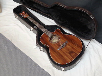 DEAN Exotica Cocobolo acoustic electric GUITAR new w/ CASE - Exotic Wood