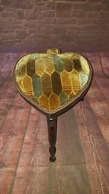 Antique Vintage Old Wooden Ace of Spades Hearts Love Stool Seat Dresser Bar