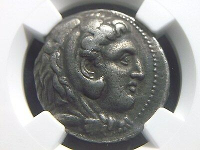 Authentic Silver Tetradrachm of Philip III King of Macedonia NGC Ch VF  4003