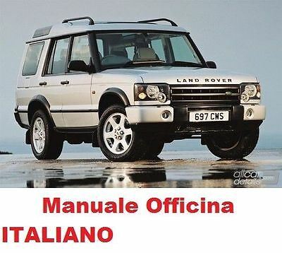 Land Rover Discovery Manuale Officina (1989/1998) Italiano Su Cd