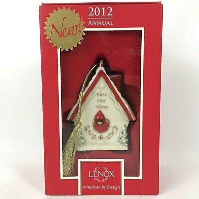 Lenox 2012 Annual Bless Our Home Ornament Birdhouse Christmas New in Box