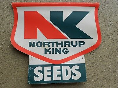 Northrup King seed corn field plot sign vintage farm advertising 21x23