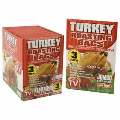 Xmas 3 Jumbo Size Roasting Turkey Bag Microwave Oven Poultry Chicken Meat Fish