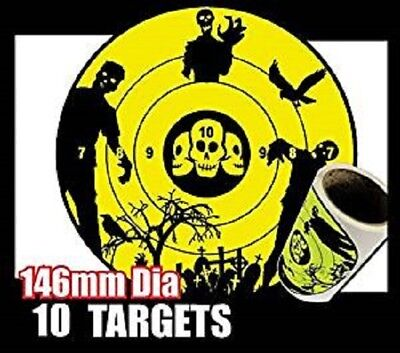 10 zombie targets great for Nerf or bb Guns suction darts stick to the target