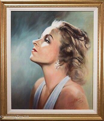Stunning Original Oil Painting on Canvas, Female Portrait Signed & Framed