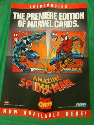 Rare 1994 Fleer Marvel Comics Spiderman Marvel Cards Promo Poster 17 X 11