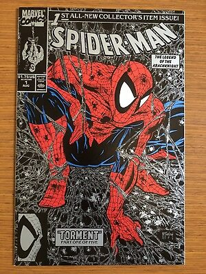 Spider-Man #1 (vol. 1) SILVER COVER TODD MCFARLANE Marvel MARY JANE VF/NM KEY