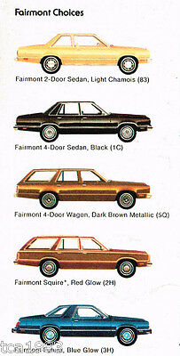 1979 FORD FAIRMONT Dealer Sales Auto Brochure/Catalog: FUTURA,Station Wagon,