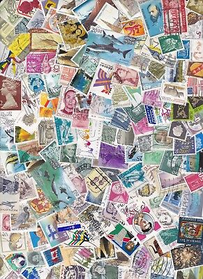 100 Off Paper Used Good Mix Different World Stamps Recent Old Bulk Lot