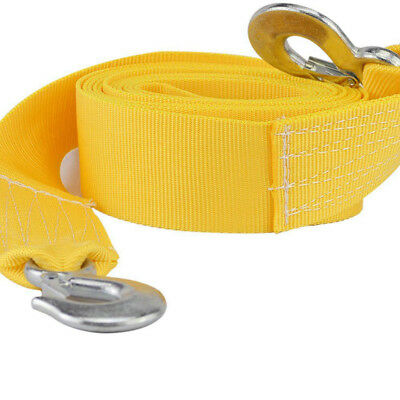8Tons Car Tow Cable Towing Strap Rope W/ 2 Hooks Heavy Duty 20FT 18,000LB Sale