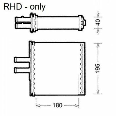 NRF Heat Exchanger, Interior Heating 54223