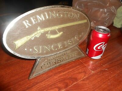 Vintage Remington Rifle GUNSMITH Gun Delaer Sign