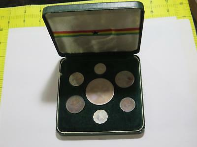 Ghana 1958 Proof Set 10 Shillings Silver Crown Type World Coin Collection Lot