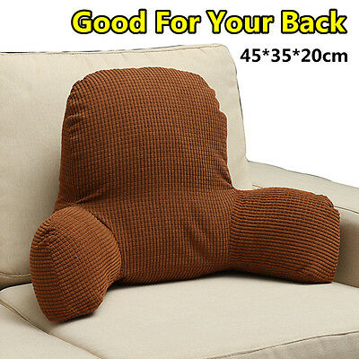 Bed Office Home Rest Pillow Support Back Wedge Fip Plush Cushion Reading Lounger