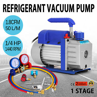 1.8Cfm 1/4 Hp Vacuum Pump Refrigeration 50 L/min Kit A/c Silicone Conditioning