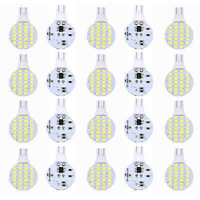20x T10/921/194 24SMD LED Bright White Interior Light Bulb For Truck RV Trailers