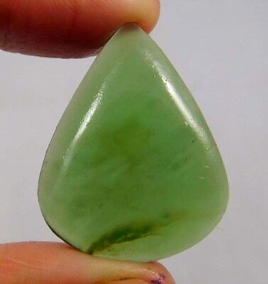 20.75 Cts. 100% Natural Green Jade? Pear 29X23 Loose Gemstone Attractive