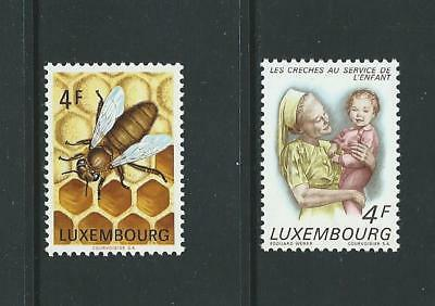 1973 LUXEMBOURG Bees & Day Nurseries Issues MNH (Scott 525-526)