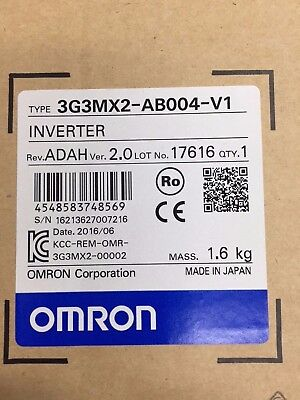 OMRON Inverter Variable Speed Drive 3G3MX2-AB004 240v Single phase input .37kw