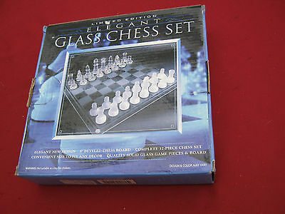 Elegant Glass Chess Set