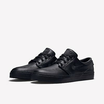 cheap for discount eec7a 7e63c Nike SB Zoom Stefan Janoski Black Leather Mens Skate Shoes Brand New Size  UK 10