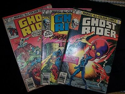 3 Marvel Ghost Rider Comics 39,40,41 Excellent Condition