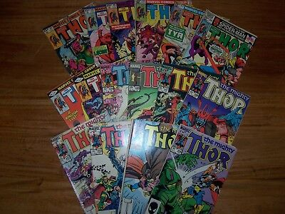 16 Marvel's The Mighty Thor Comic's in Excellent Condition 1980 - 1988