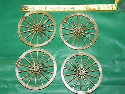Miniature Model Spoke Wagon Cart Buggy Plastic Wheels ~ Bag C Scale Model Toy
