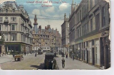 Postcard - Grand Hotel and Charing Cross Glasgow - Unposted