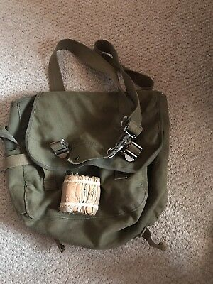 Ww 2 Canvas bag  And WW2  Medical Gauze maybe WWII German not sure definite WWII