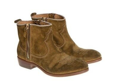 SALE!!! NEW!!GOLDEN GOOSE BOOTS BROWN DISTRESSED ANOUK, SIDE ZIPS  39 $1000 ret.