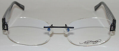 388b26b9f3 New Ed Hardy Lites Vintage Tattoo Men s Eyeglasses Elh 808 Black Rimless